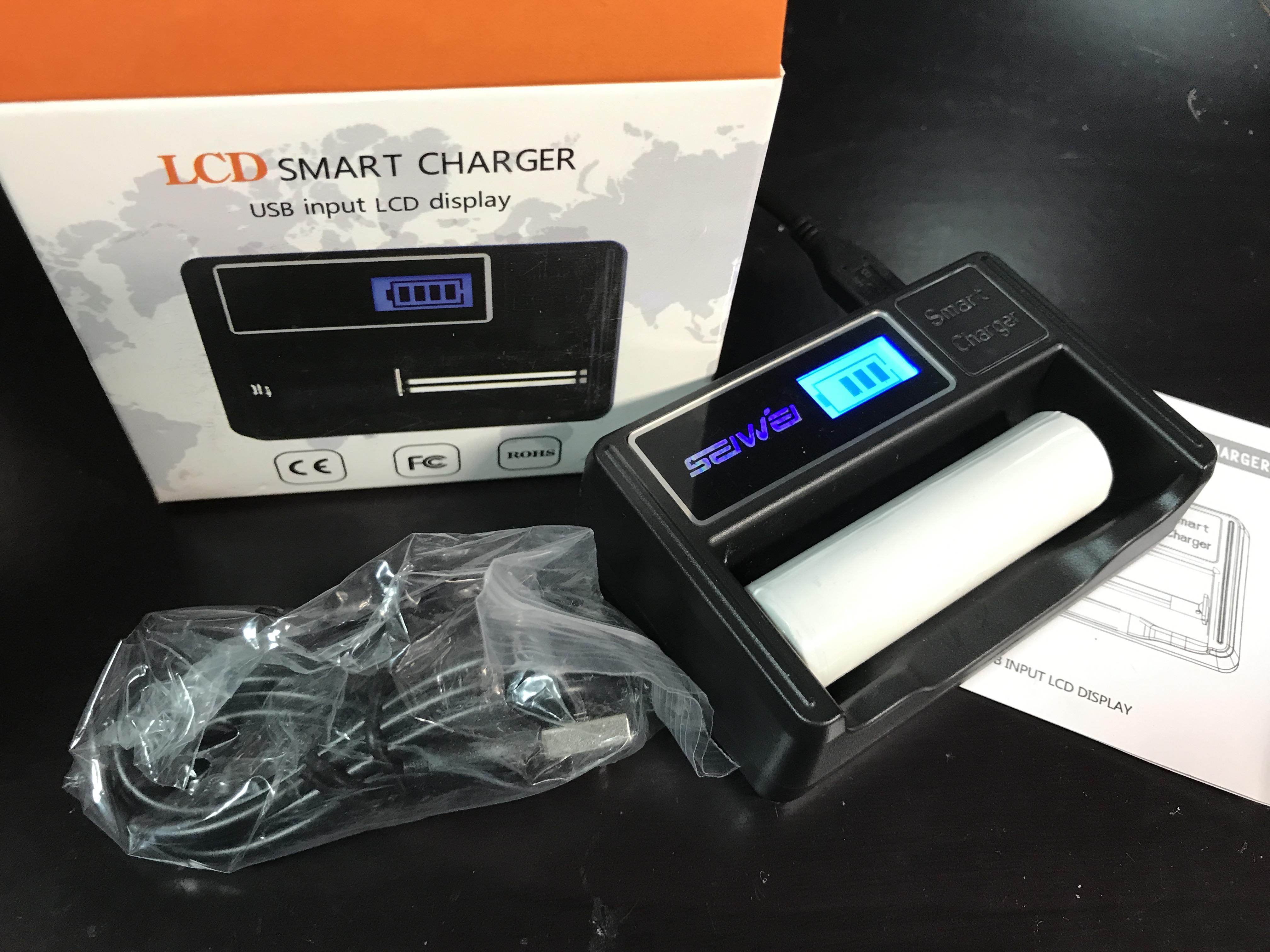 【18650充電器】SEIFINI Charger 買ってみた【激安533円】