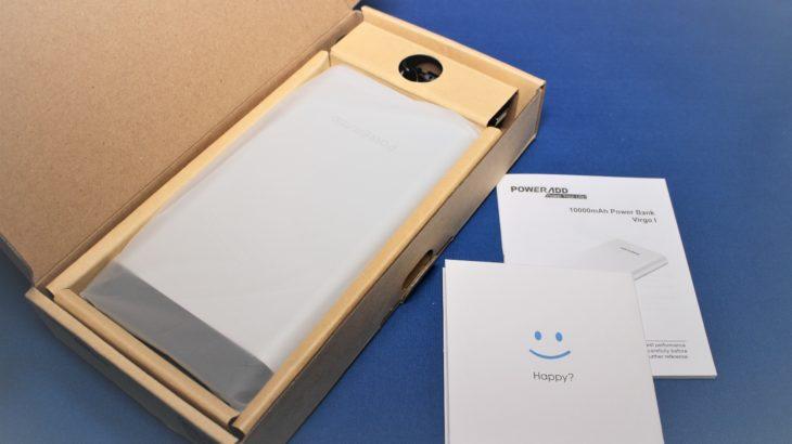 Poweradd モバイルバッテリー Vigor Ⅰ【この価格でUSB-C対応・ケーブル付】