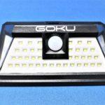 GOKU センサーライト 18650電池内蔵 防水仕様【大容量バッテリーで明るさ持続】