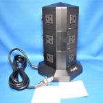 Powerjc タワー式 縦型コンセント【オフィス・会議室で大活躍の電源タップ】