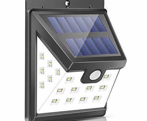Urlitoy 人感センサー LEDライト 【広範囲に照らす・ソーラー充電式】