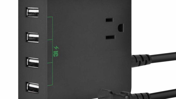 Elinker USBタップ【ACコンセントとUSB充電4ポートで便利】