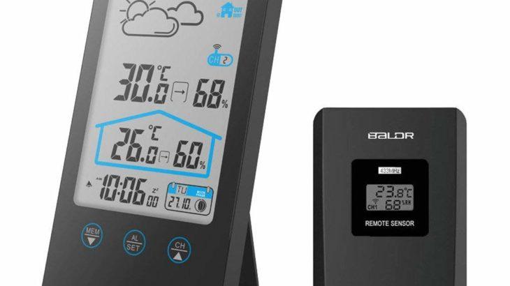 Bundle:BALDR 室内屋外 ワイヤレス デジタル 湿度計 温度計【カメラやレンズの保存にも大活躍】