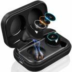MYCARBON 三色ムードランプ搭載防水Bluetoothイヤホン【高音質でしっかりとした作り】