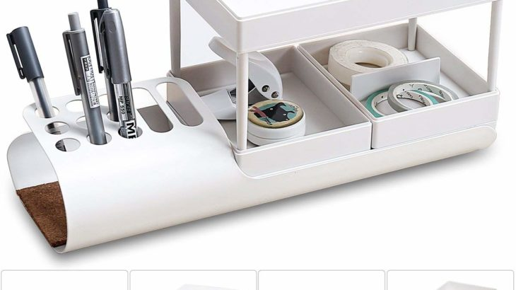 Aoonux デスクオーガナイザー【2層式で多機能便利】
