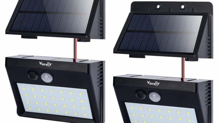 Vorally ソーラー人感センサーライト【Amazon's Choiceの2個セット】
