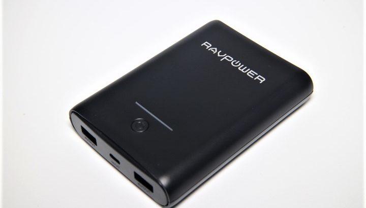 RAVPower モバイルバッテリー 10000mAh RP-PB005【コンパクト大容量】